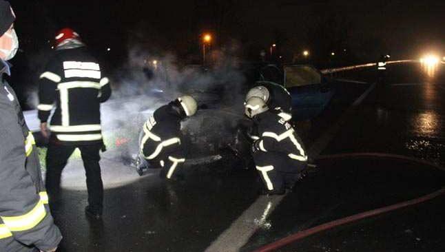 TEM Otoyolu'nda korkutan yangın