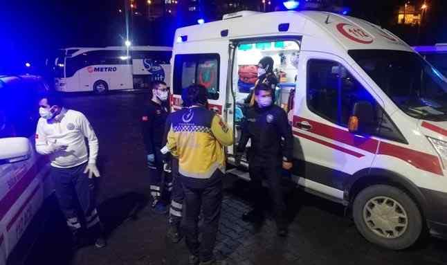 Otobüs terminalinde bıçaklı saldırı