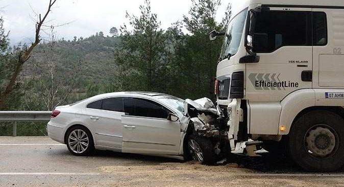 Antalya yolunda feci kaza: 1 ölü