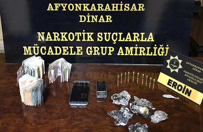 Afyonkarahisar'da operasyon! Saman balyalarının arasında bulundu