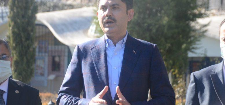 Bakan Kurum'dan seçim açıklaması