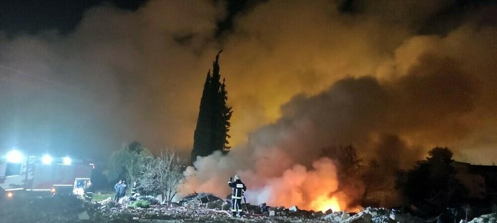 Katı atık alanında korkutan yangın