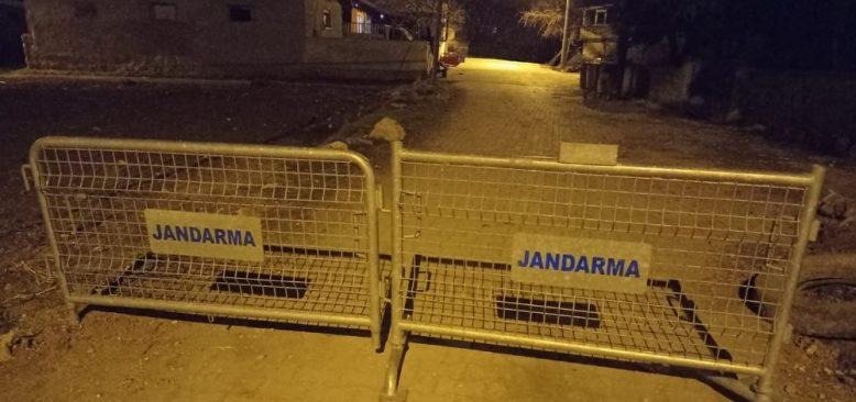 Yeşilova'nın Çardak köyü karantinaya alındı