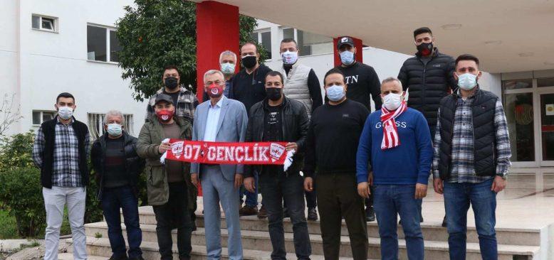 Antalya Kulübü Başkanı Yılmaz destek turunda