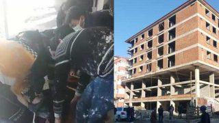 Asansör boşluğuna düşen inşaat işçisi ağır yaralandı