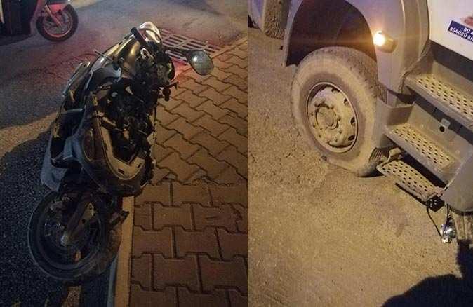 Kamyonla motosiklet çarpıştı! Sürücü ağır yaralandı