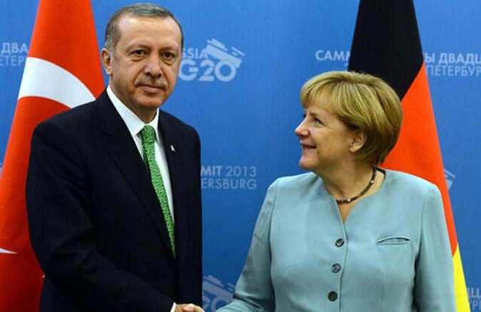 Cumhurbaşkanı Recep Tayyip Erdoğan Angela Merkel ile görüştü