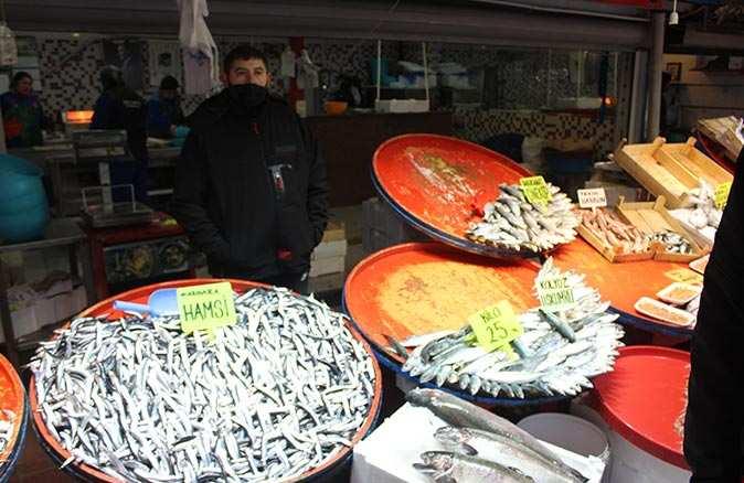 Fırtına ve soğuk havanın ardından balık fiyatları tavan yaptı