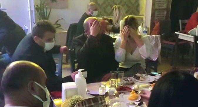 Kafeyi pavyona çevirmişler! 40 kişi yakalandı