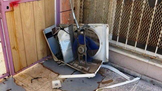 Hırsızlar okulun klimalarına dadandı