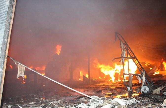 Yangının zararı 6 milyon lira
