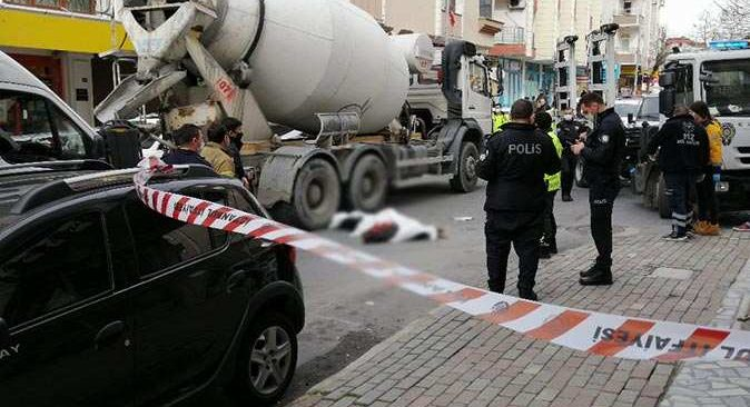 Beton mikseri altında kalan kadın hayatını kaybetti