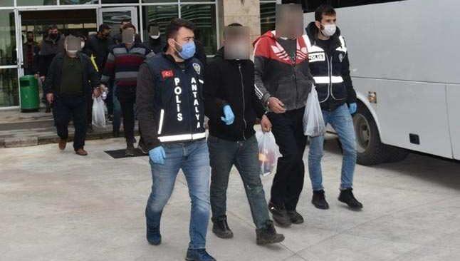 Eş zamanlı operasyon 37 kişi yakalandı
