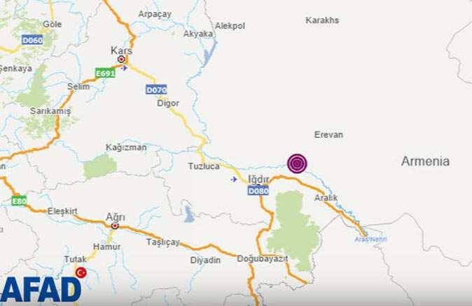 Ermenistan'da deprem! Türkiye'den hissedildi