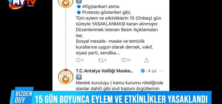 Bizden Duy 3 Şubat 2021 Antalya Gündemi - Kentte 15 gün yasağı getirildi
