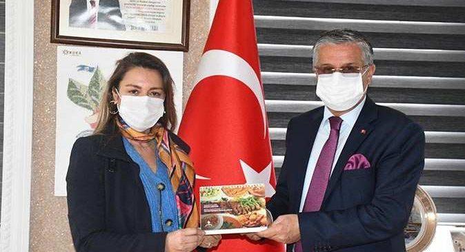 ATAV Başkanı Yeliz Gül Ege'den Başkan Topaloğlu'na ziyaret