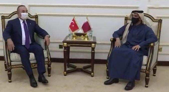 Bakan Çavuşoğlu, Katarlı mevkiidaşı ile bir araya geldi