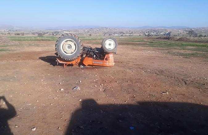Traktörle drift yaparken kontrolü kaybetti: 3 yaralı