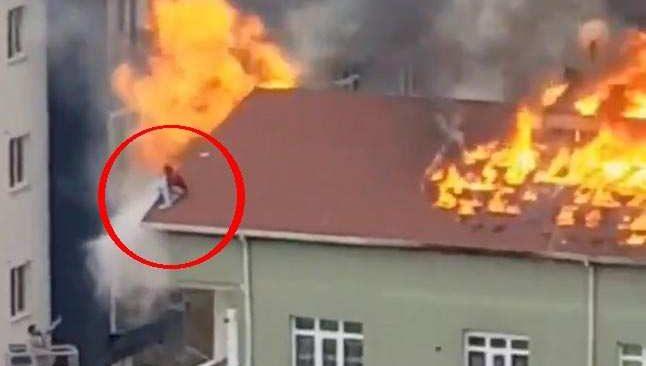 Alev alev yanan çatıda can pazarı