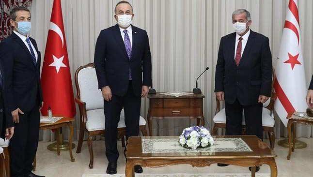 Dışişleri Bakanı Çavuşoğlu, KKTC Başbakanı Saner ile görüştü