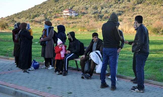 Kaçak göçmenler serada yakalandılar