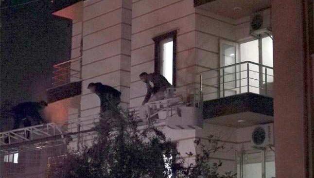 Apart otelde korkutan yangın