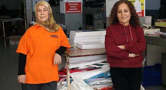 Alanya'da kadın matbaa ustaları herkese örnek oluyor