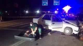 Adıyaman'da feci kaza! 3 yaralı