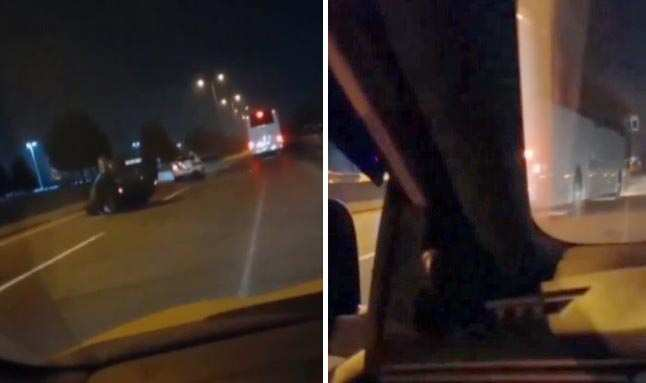 Kazayı izlerken kaza yaptı
