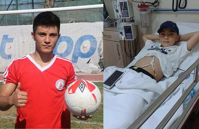 Yıllar önce lösemi teşhisi konulmuştu! Futbol sevgisiyle 17 yaşında sahalara geri döndü