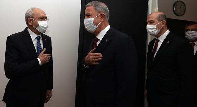İçişleri Bakanı Soylu ve Milli Savunma Bakanı Akar, Kılıçdaroğlu ile buluştu