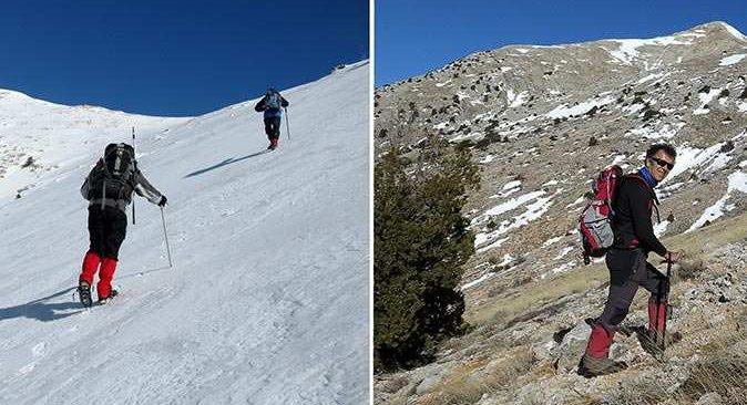 Antalya'da dağcılar küresel ısınmanın etkilerini böyle fotoğrafladı