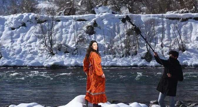 Tunceli'deki Munzur Dağları'nda moda çekimi yapıldı