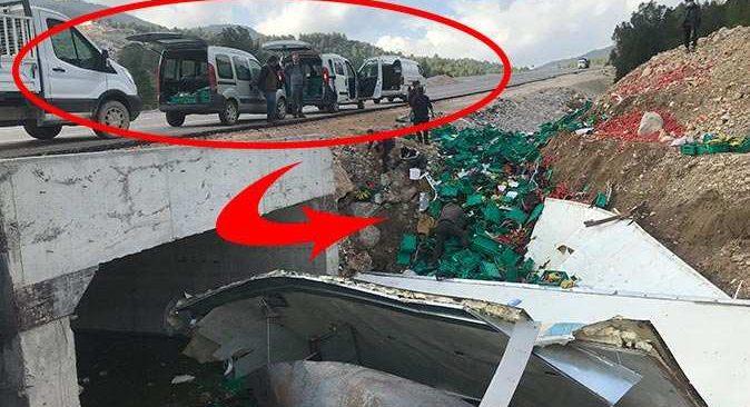 Antalya'daki kazada ortalık savaş alanına döndü! Vatandaşlar kuyruk oluşturdu