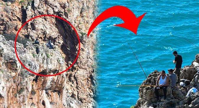 Antalya'da amatör balıkçılar yürekleri ağza getirdi