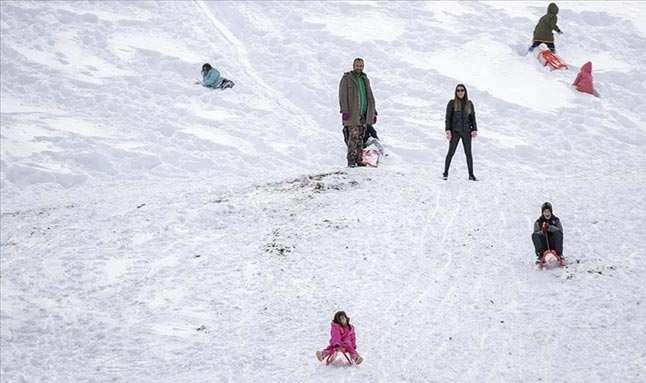 Saklıkent'te kayak keyfi yaşanıyor