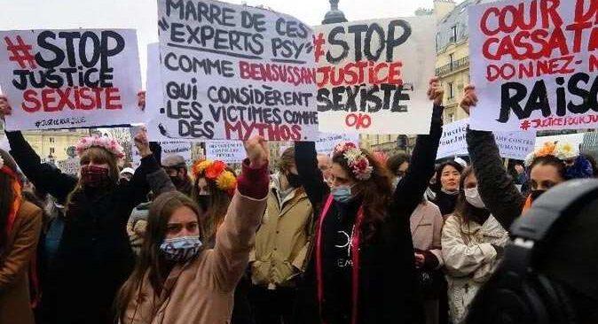 Fransa'da 13 yaşındaki çocuğa tecavüz eden itfaiyecilerin yargılanması için protesto