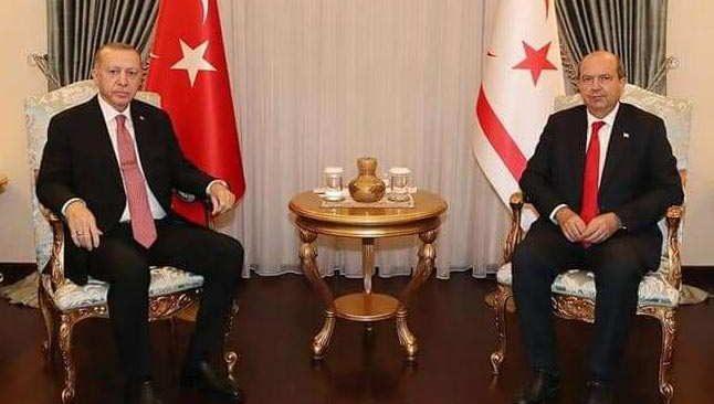 KKTC Cumhurbaşkanı Tatar, Cumhurbaşkanı Erdoğan ile görüştü