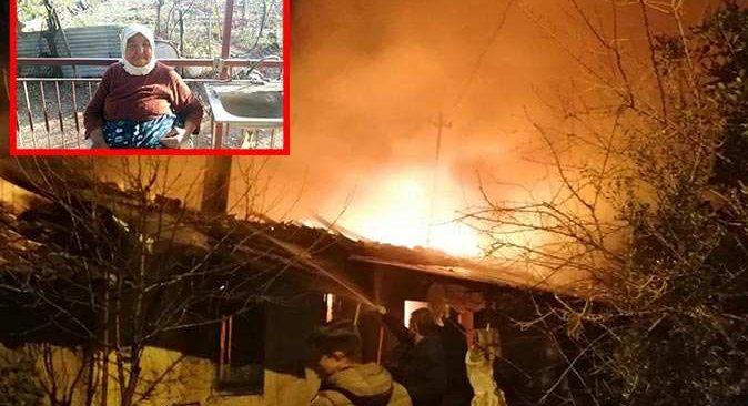 Antalya'da yanan ev 93 yaşındaki kadına mezar oldu