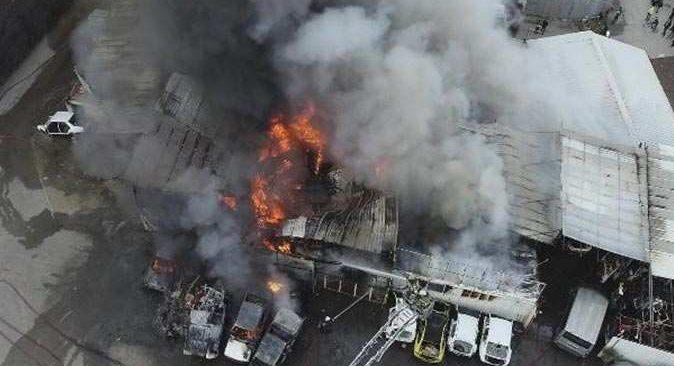 Bursa'da alev alev yandı! Ekipler seferber oldu
