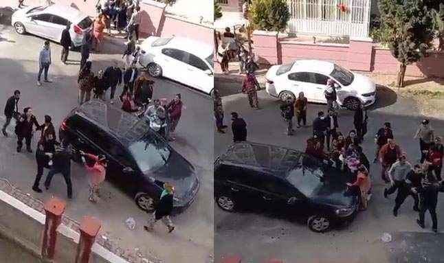 Zeytinköy'de komşu kavgası! Ortalık savaş alanına döndü