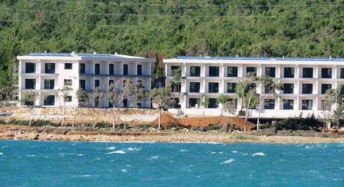 Yeşilovacık sahilindeki inşaatlara tepki