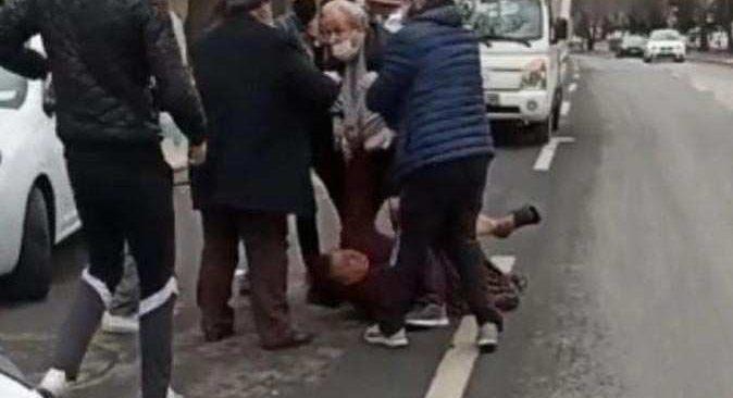 Utanç veren görüntü! Bu sefer Ankara'da bir adam eşini darp etti