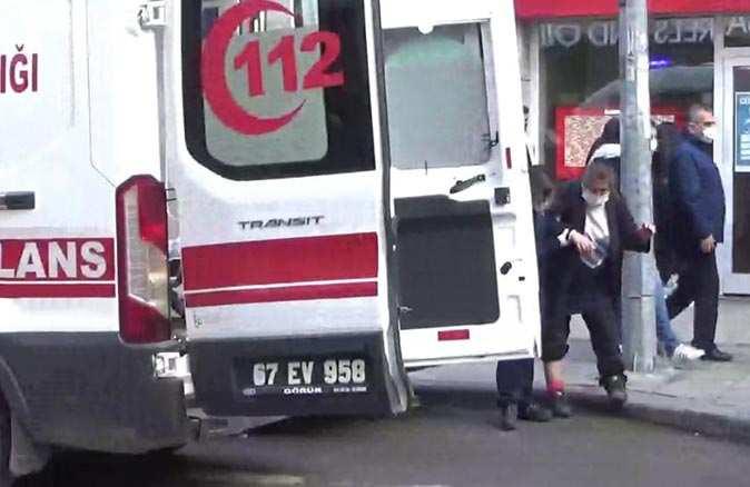 Zonguldak'ta otomobil yaşlı kadına çarptı