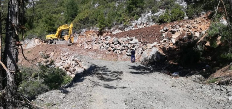 Alanya kırsalında yol hasreti bitti