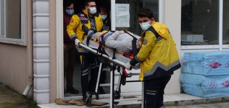 Zonguldak'ta fenalaşan işçi iskeleden düşerek yaralandı