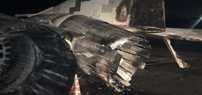 Alkollü subay, aracıyla savaş uçağına çarptı
