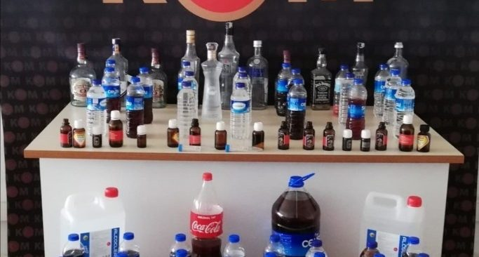 Onlarca litre kaçak içki ele geçirildi