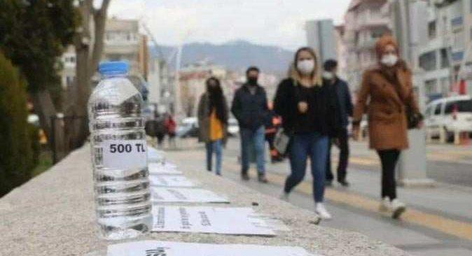 Gören bir daha baktı! Yarım litre su 500 lira