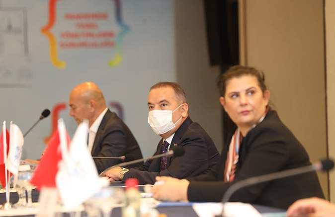 Büyükşehir başkanlarının bir araya geldiği toplantıda gündem konuşuldu